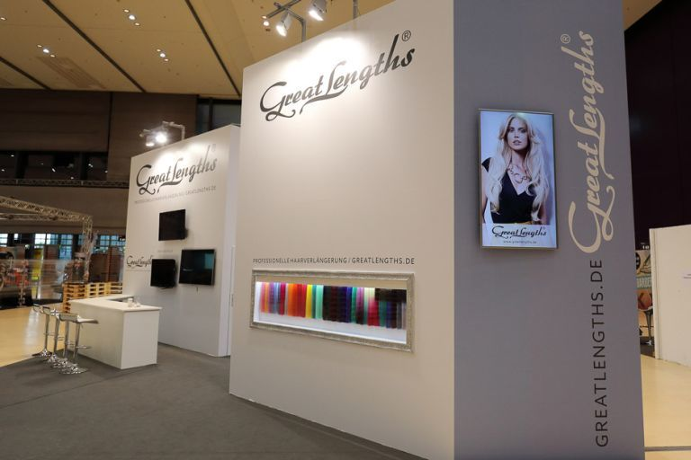 Messestand von Great Lengths, Hairfestival Graz:  (© )