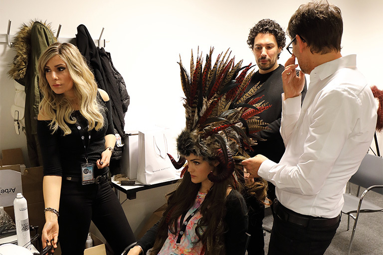 BACKSTAGE: Graz Show Act:  (© )