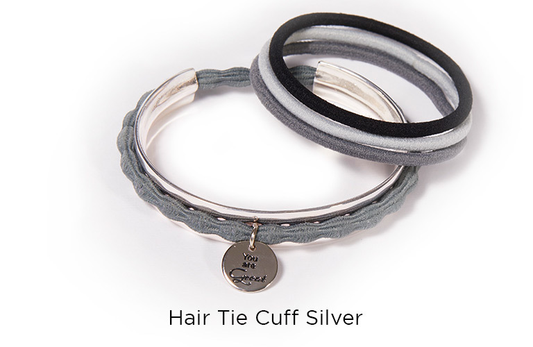 Hair Tie Cuff Silver:  (© © Great Lengths)