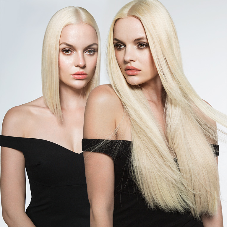 Extensions mit Ultraschall - unsichtbare Bondings, toller Halt (© Great Lengths)