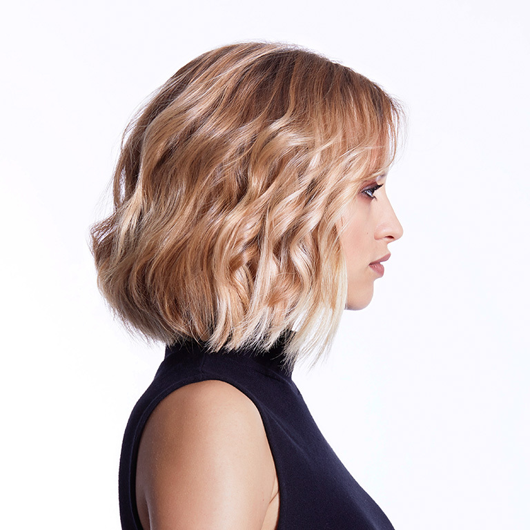Trendfrisur mit klarem Cut (© Great Lengths)