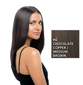 Hairdo 22 inch Clip in Straight, Medium Brown:  (© HAIRUWEAR)