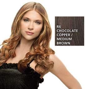 Hairdo 23 inch Clip in Wavy, Chocolate Copper:  (© HAIRUWEAR)
