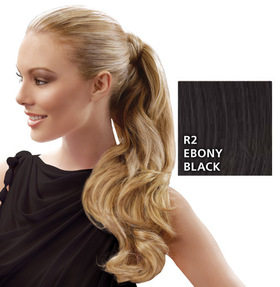 23 inch Wrap Around Pony, Ebony Black:  (© HAIRUWEAR)
