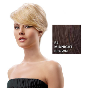 Swept-Away-Bang Seitenpartie, Midnight Brown:  (© HAIRUWEAR)