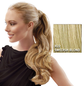 "23"" Wrap Around Pony, Swedish Blond:  (© Great Lengths)"