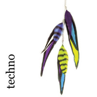 Feather Charms Farbe: techno