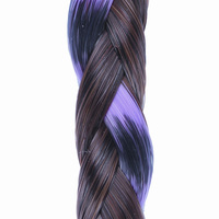 CLIP IN BEADED BRAID R4 purple:  (© Great Lengths)