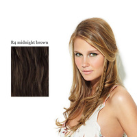 CLIP IN LONG BRAID R4 midnight brown:  (© Great Lengths)