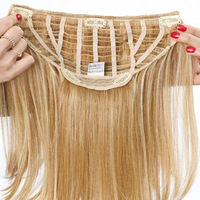 "22"" Clip in Straight, Rückseite:  (© Great Lengths)"